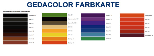 Colormatch Farbkarte