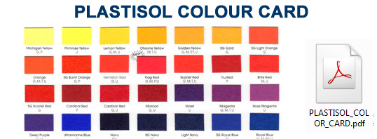 PLASTISOL COLOR CARD