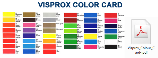VISPROX COLOR CARD